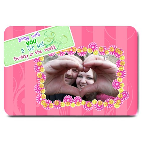 Being With You   Large Doormat By Digitalkeepsakes   Large Doormat   Vvyafksp8248   Www Artscow Com 30 x20 Door Mat - 1