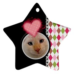 Love   Star Ornament 2 Sides By Digitalkeepsakes   Star Ornament (two Sides)   Prholkkrv3ia   Www Artscow Com Front