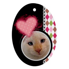 Love   Oval Ornament 2 Sides By Digitalkeepsakes   Oval Ornament (two Sides)   1atd19erpbc1   Www Artscow Com Front