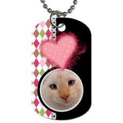Love   Dog Tag 2 Sides By Digitalkeepsakes   Dog Tag (two Sides)   06ypsdron5to   Www Artscow Com Front