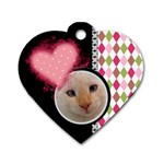 Love - Dog Tag Heart - Dog Tag Heart (One Side)
