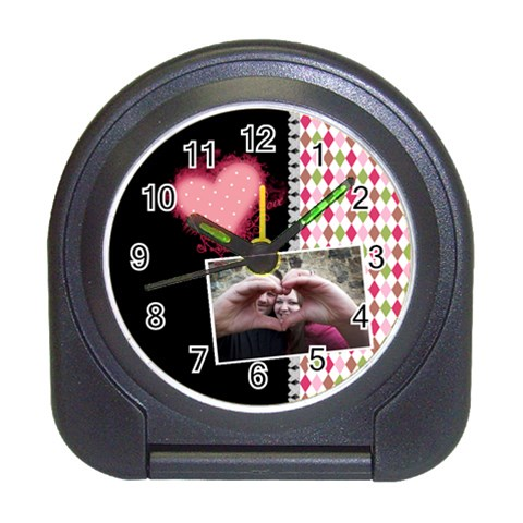 Love  Travel Alarm Clock By Digitalkeepsakes   Travel Alarm Clock   K0z3p2ih9x4i   Www Artscow Com Front