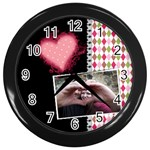 Love- Wall Clock - Wall Clock (Black)