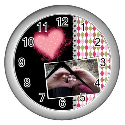 Love  Wall Clock By Digitalkeepsakes   Wall Clock (silver)   Bdufdv47q8fl   Www Artscow Com Front