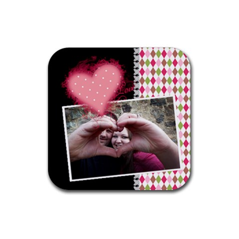 Love   Coasters By Digitalkeepsakes   Rubber Square Coaster (4 Pack)   U4c1fdwquz6n   Www Artscow Com Front