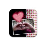 Love - Coasters - Rubber Square Coaster (4 pack)