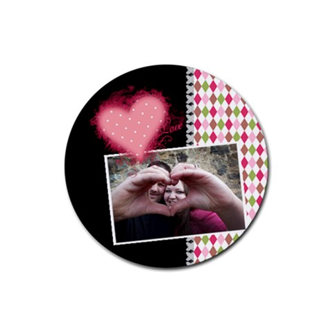 Love   Coasters By Digitalkeepsakes   Rubber Round Coaster (4 Pack)   Fsd7bofbbgbu   Www Artscow Com Front