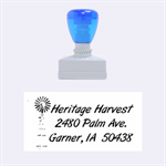 HERITAGE HARVEST STAMP - Rubber Stamp (Medium)