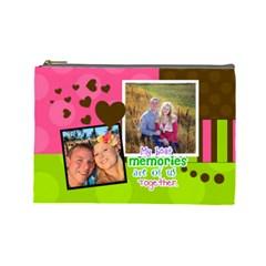 My Best Memories   Medium Cosmetic Bag By Digitalkeepsakes   Cosmetic Bag (large)   Bh35dn1wurfl   Www Artscow Com Front