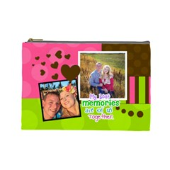 My Best Memories   Large Cosmetic Bag By Digitalkeepsakes   Cosmetic Bag (large)   D1hfcc6e5l1w   Www Artscow Com Front