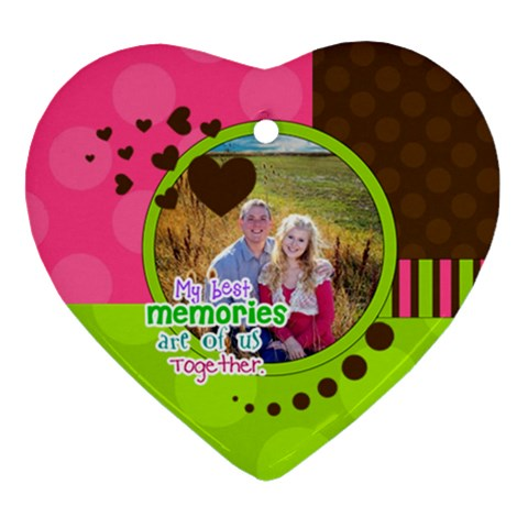 My Best Memories   Ornament By Digitalkeepsakes   Ornament (heart)   Dphgm0zv1gkj   Www Artscow Com Front