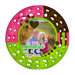 My Best Memories   Ornament By Digitalkeepsakes   Round Filigree Ornament (two Sides)   5ud1nxck526s   Www Artscow Com Back