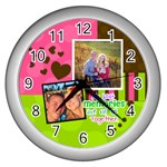 My Best Memories - Wall Clock - Wall Clock (Silver)