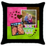 My Best Memories - Throw Pillow Case - Throw Pillow Case (Black)