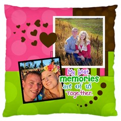 My Best Memories   Cushion Case By Digitalkeepsakes   Large Cushion Case (two Sides)   E3kuken6vasl   Www Artscow Com Front