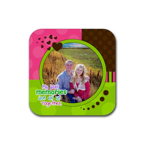 My Best Memories   Coaster By Digitalkeepsakes   Rubber Coaster (square)   E923nkrc6snz   Www Artscow Com Front