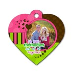 My Best Memories - Heart Dog Tag - Dog Tag Heart (One Side)