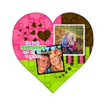 My Best Memories are of us together - Acrylic Heart Jigsaw Puzzle  (4  x 4 )