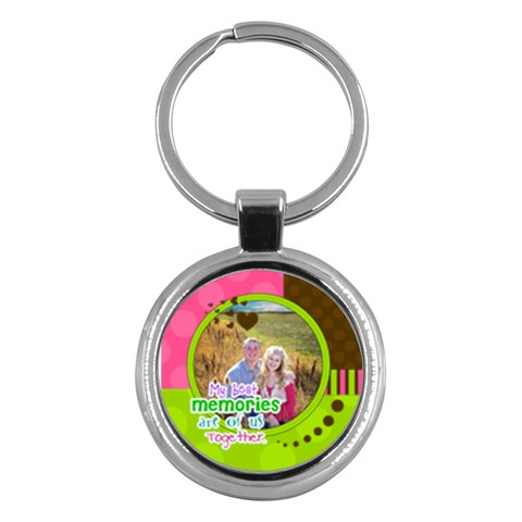 My Best Memories Are Of Us Together By Digitalkeepsakes   Key Chain (round)   If26yf75pz1u   Www Artscow Com Front