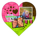 My Best Memories are of us together - Acrylic Heart Jigsaw Puzzle  (8  x 8 )