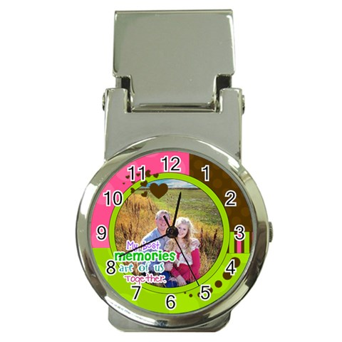 My Best Memories Are Of Us Together By Digitalkeepsakes   Money Clip Watch   15ibxnuuquot   Www Artscow Com Front