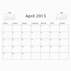2013 By Kristiania Anderson Knipler   Wall Calendar 11  X 8 5  (12 Months)   Bghi7a66cora   Www Artscow Com Apr 2013