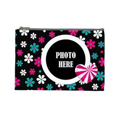 Color Splash Large Cosmetic Bag By Lisa Minor   Cosmetic Bag (large)   V77m5fo6bkk9   Www Artscow Com Front