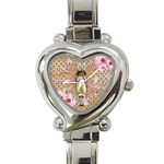 Glittered Girl - Heart Italian Charm Watch