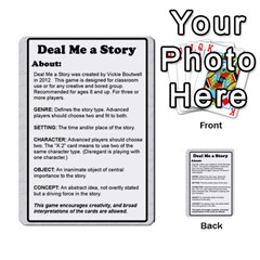 Deal Me A Story Cards By Vickie Boutwell   Multi Purpose Cards (rectangle)   00j15fphwnsv   Www Artscow Com Back 1