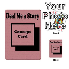 Deal Me A Story Cards By Vickie Boutwell   Multi Purpose Cards (rectangle)   00j15fphwnsv   Www Artscow Com Back 52