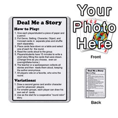 Deal Me A Story Cards By Vickie Boutwell   Multi Purpose Cards (rectangle)   00j15fphwnsv   Www Artscow Com Front 2