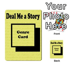 Deal Me A Story Cards By Vickie Boutwell   Multi Purpose Cards (rectangle)   00j15fphwnsv   Www Artscow Com Back 4