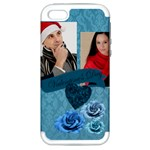 blue of rose - Apple iPhone 5 Hardshell Case (PC+Silicone)