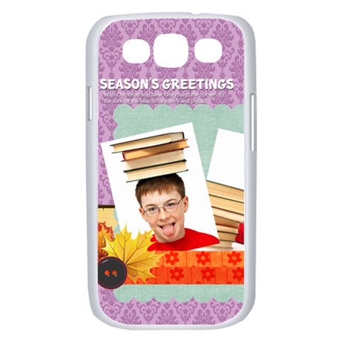 Merry Christmas By Jo Jo   Samsung Galaxy S Iii Case (white)   S253dvfmnhil   Www Artscow Com Front