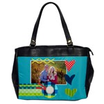 Heart - Oversize office bag - Oversize Office Handbag (One Side)