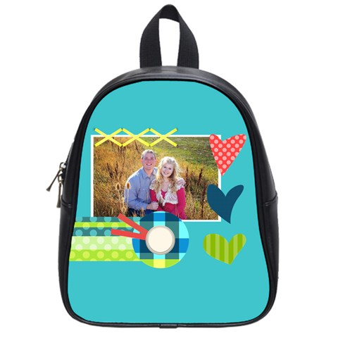 Heart By Digitalkeepsakes   School Bag (small)   V996cenjnar9   Www Artscow Com Front