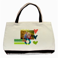 Playful Hearts By Digitalkeepsakes   Basic Tote Bag (two Sides)   S9t1psp114a3   Www Artscow Com Front