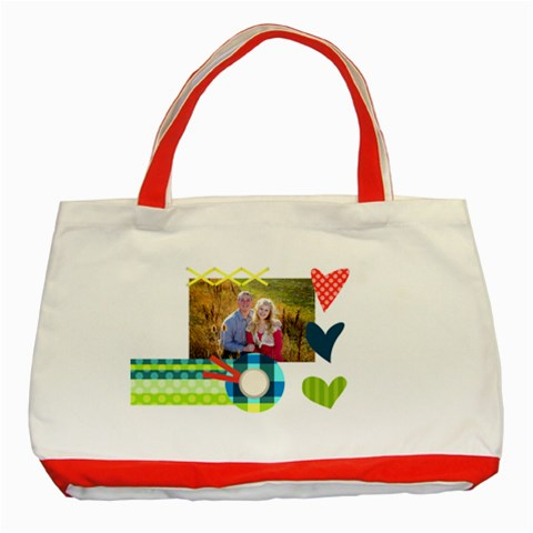 Playful Hearts By Digitalkeepsakes   Classic Tote Bag (red)   Mexqb4tyawsi   Www Artscow Com Front