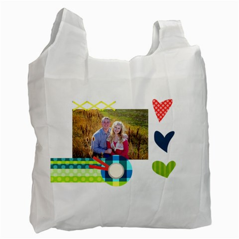 Playful Hearts By Digitalkeepsakes   Recycle Bag (one Side)   Ev3zsca6jkq3   Www Artscow Com Front