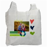 Playful Hearts - Recycle Bag (One Side)