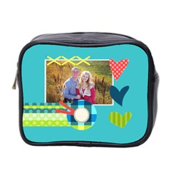 Playful Hearts By Digitalkeepsakes   Mini Toiletries Bag (two Sides)   Ocvj3w4jqji6   Www Artscow Com Front