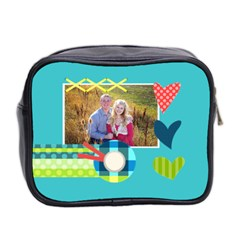 Playful Hearts By Digitalkeepsakes   Mini Toiletries Bag (two Sides)   Ocvj3w4jqji6   Www Artscow Com Back