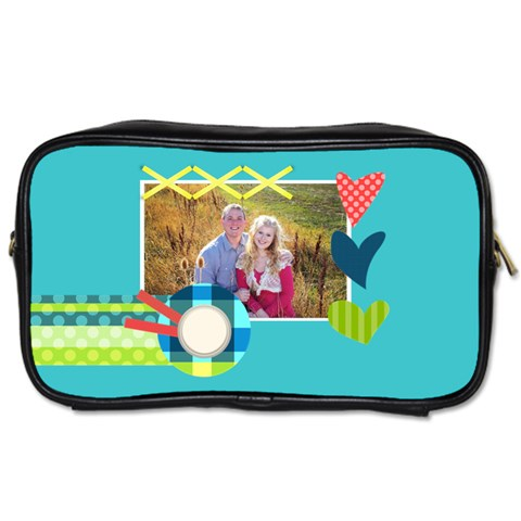 Playful Hearts By Digitalkeepsakes   Toiletries Bag (one Side)   Zoeurcne53jo   Www Artscow Com Front