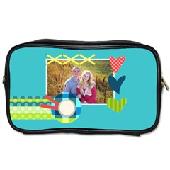 Playful Hearts By Digitalkeepsakes   Toiletries Bag (two Sides)   Giu2xmpmuvgl   Www Artscow Com Front