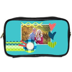 Playful Hearts By Digitalkeepsakes   Toiletries Bag (two Sides)   Giu2xmpmuvgl   Www Artscow Com Back