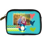 Playful Hearts - Digital Camera Leather Case