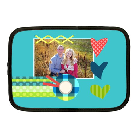 Playful Hearts By Digitalkeepsakes   Netbook Case (medium)   Wn8d91kdvrb2   Www Artscow Com Front