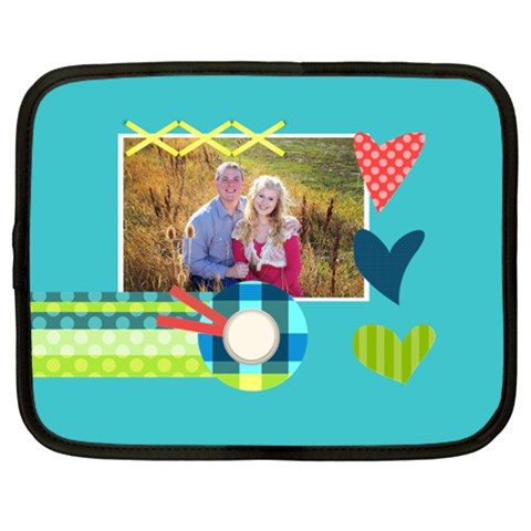 Playful Hearts By Digitalkeepsakes   Netbook Case (xl)   Ngn644z1w3oz   Www Artscow Com Front