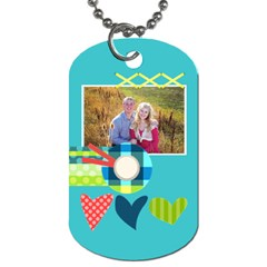Playful Hearts By Digitalkeepsakes   Dog Tag (two Sides)   Hrxyvncyp0cr   Www Artscow Com Front