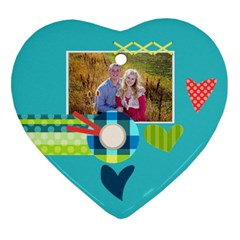 Playful Hearts By Digitalkeepsakes   Heart Ornament (two Sides)   2i9z8n22ehip   Www Artscow Com Back